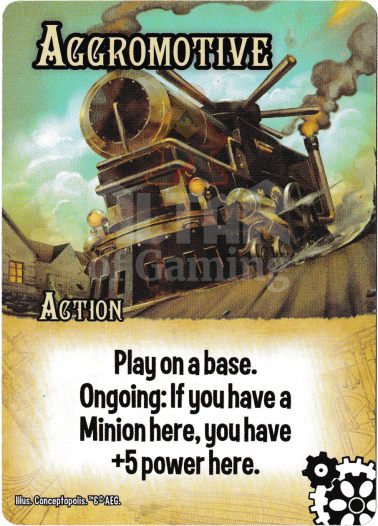 Aggromotive - Steampunks - Smash Up Card | Altar of Gaming