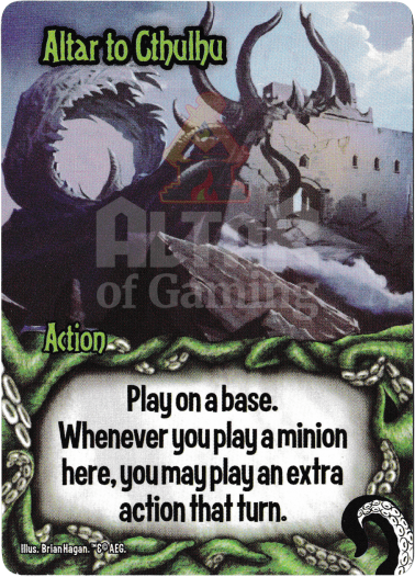 Altar to Cthulhu - Minions of Cthulhu - Smash Up Card | Altar of Gaming