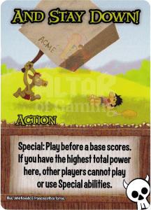 And Stay Down! - Smash Up Card - Orcs | Altar of Gaming