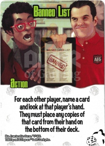 Banned List - Smash Up Card - Geeks | Altar of Gaming