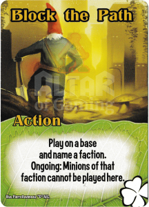 Block the Path - Smash Up Card - Tricksters | Altar of Gaming