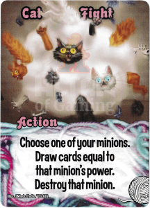 Cat Fight - Smash Up Card - Kitty Cats | Altar of Gaming