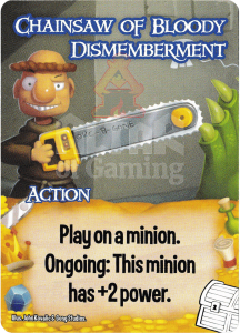 Chainsaw of Bloody Dismemberment - Smash Up Card - Treasures | Altar of Gaming