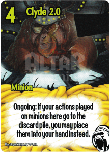 Clyde 2.0 - Smash Up Card - Cyborg Apes | Altar of Gaming