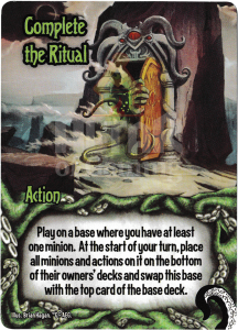 Complete the Ritual - Smash Up Card - Minions of Cthulhu | Altar of Gaming