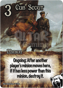 Cub Scout - Smash Up Card - Bear Cavalry | Altar of Gaming