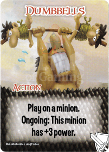 Dumbbells - Smash Up Card - Warriors | Altar of Gaming