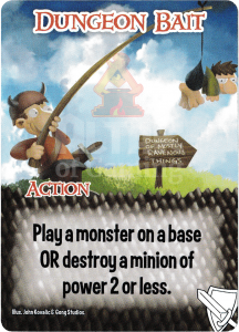 Dungeon Bait - Smash Up Card - Warriors | Altar of Gaming