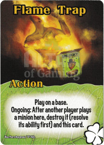 Flame Trap - Smash Up Card - Tricksters | Altar of Gaming