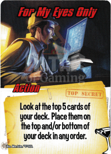 For My Eyes Only - Smash Up Card - Super Spies | Altar of Gaming