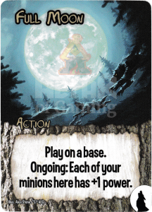 Full Moon - Smash Up Card - Werewolves | Altar of Gaming