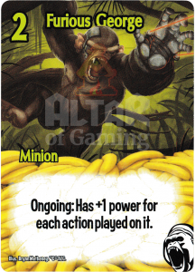 Furious George - Smash Up Card - Cyborg Apes | Altar of Gaming