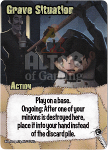 Grave Situation - Smash Up Card - Mad Scientists   Altar of Gaming