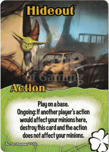 Hideout - Smash Up Card - Tricksters | Altar of Gaming