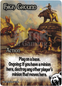High Ground - Smash Up Card - Bear Cavalry | Altar of Gaming
