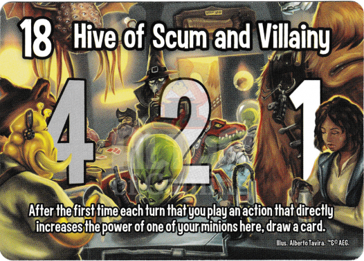 Hive of Scum and Villainy - Astroknights - Smash Up Card | Altar of Gaming