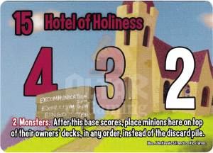 Hotel of Holiness - Smash Up Card - Clerics | Altar of Gaming