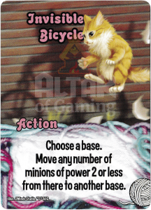 Invisible Bicycle - Smash Up Card - Kitty Cats | Altar of Gaming