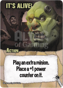 It's Alive! - Smash Up Card - Mad Scientists   Altar of Gaming