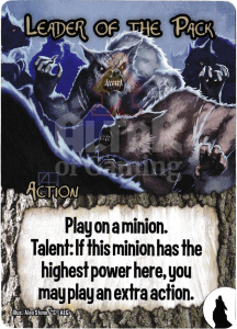 Leader of the Pack - Smash Up Card - Werewolves | Altar of Gaming