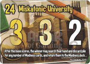Miskatonic University - Smash Up Card - Miskatonic University | Altar of Gaming
