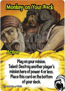Monkey on Your Back - Smash Up Card - Cyborg Apes | Altar of Gaming