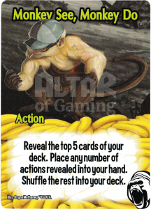Monkey See, Monkey Do - Smash Up Card - Cyborg Apes | Altar of Gaming