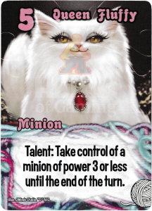 Queen Fluffy - Smash Up Card - Kitty Cats | Altar of Gaming