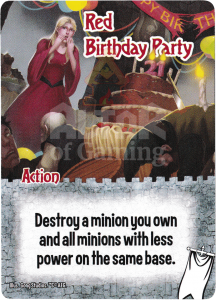 Red Birthday Party - Smash Up Card - Ignobles | Altar of Gaming