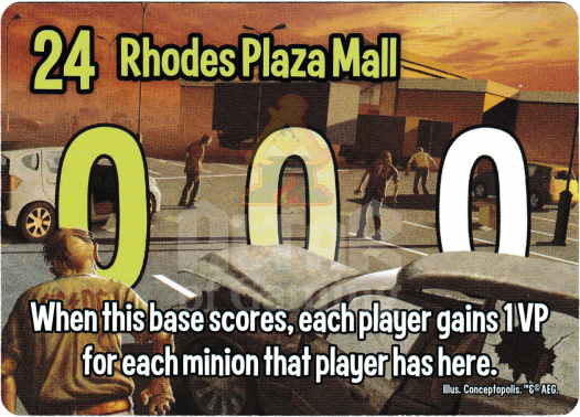 Rhodes Plaza Mall - Zombies - Smash Up Card | Altar of Gaming