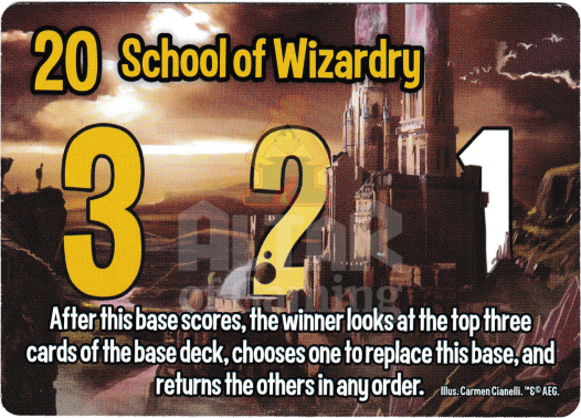 School of Wizardry - Wizards - Smash Up Card | Altar of Gaming