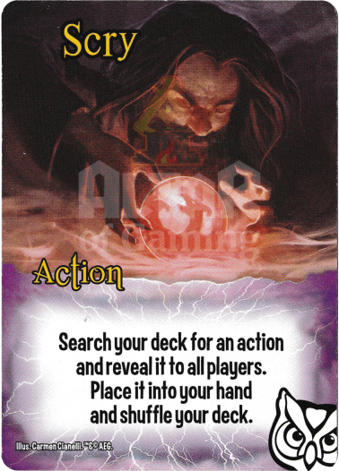 Scry - Wizards - Smash Up Card   Altar of Gaming