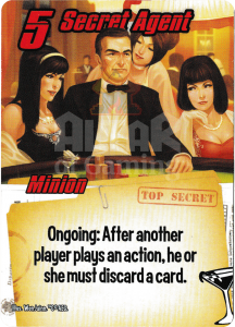 Secret Agent - Smash Up Card - Super Spies | Altar of Gaming