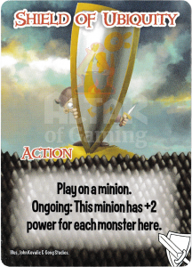 Shield of Ubiquity - Smash Up Card - Warriors | Altar of Gaming