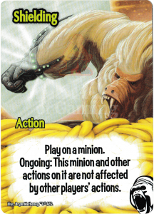 Shielding - Smash Up Card - Cyborg Apes | Altar of Gaming