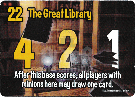 The Great Library - Wizards - Smash Up Card   Altar of Gaming