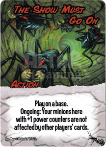 The Show Must Go On - Smash Up Card - Giant Ants | Altar of Gaming