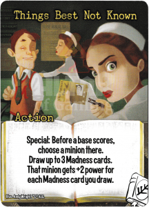 Things Best Not Known - Smash Up Card - Miskatonic University | Altar of Gaming