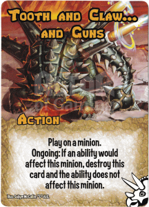 Tooth and Claw… And Guns - Smash Up Card - Dinosaurs | Altar of Gaming