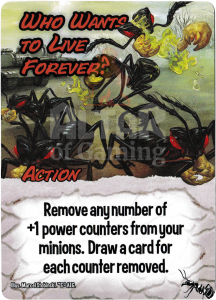 Who Wants To Live Forever? - Smash Up Card - Giant Ants | Altar of Gaming