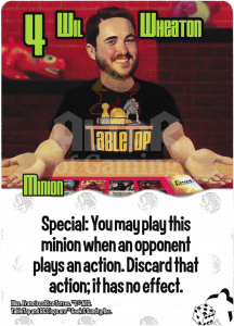 Wil Wheaton - Smash Up Card - Geeks | Altar of Gaming