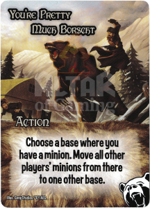 You're Pretty Much Borscht - Smash Up Card - Bear Cavalry | Altar of Gaming
